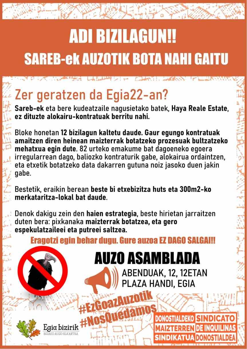 ·#NosQuedamos!  #EzGoazAuzotik!
